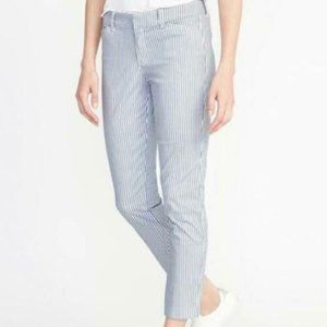 Old Navy Women's Pixie Chino Striped Printed Pants